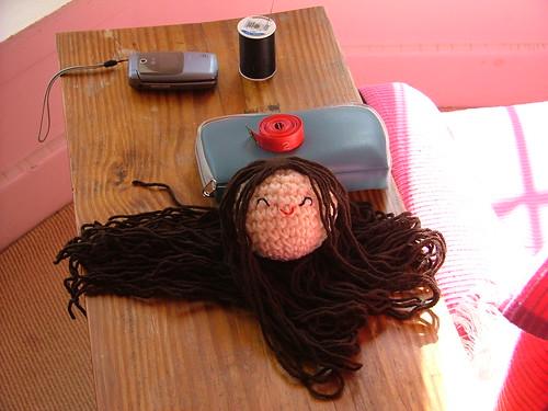 ami barrette doll in progress by you.