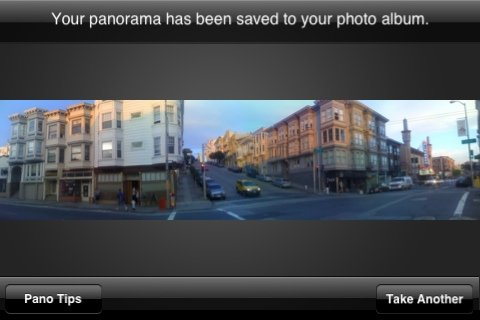 Pano, iPhone Anwendung