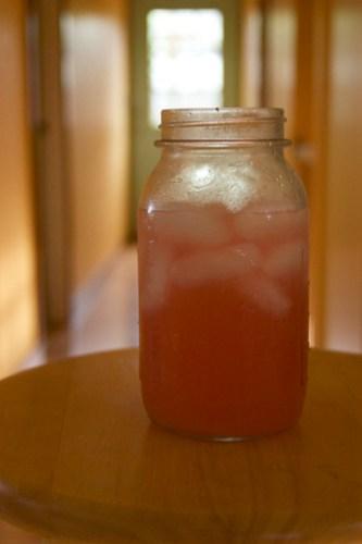 strawberry-rhubarb lemonade