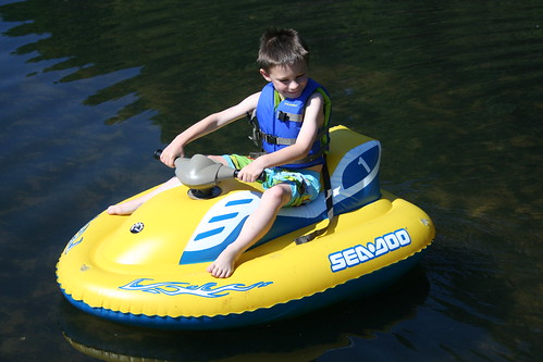 One of Andrews favorite things...the kid jet ski
