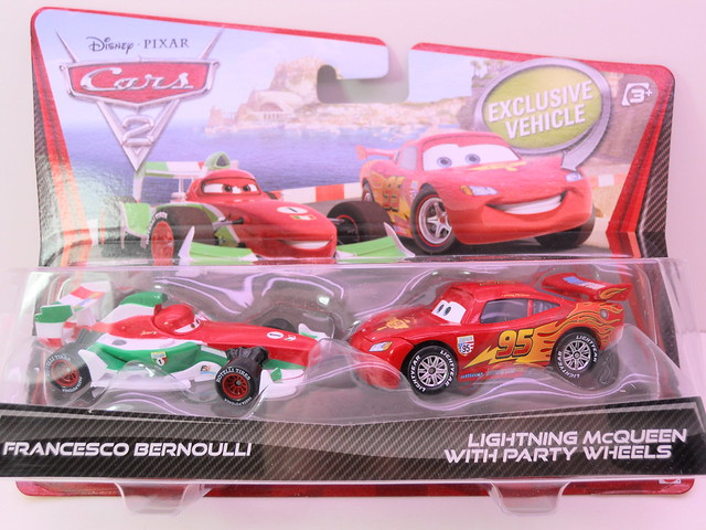 disney cars 2 movie doubles francesco bournelli lightning mcqueen with party wheels (1)