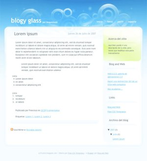 10 template blogger keren gratis - Glass