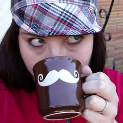 Left-handed Mustache Coffee Mug