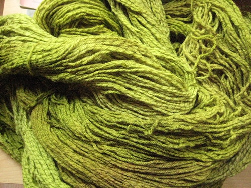 2 plys merino/1 ply superwash merino - 540 yards per skein - $41 CDN/$38 US per skein