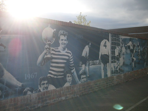 Mural outside the social club