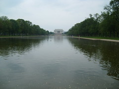Reflecting Pool and the Lincoln Memorial