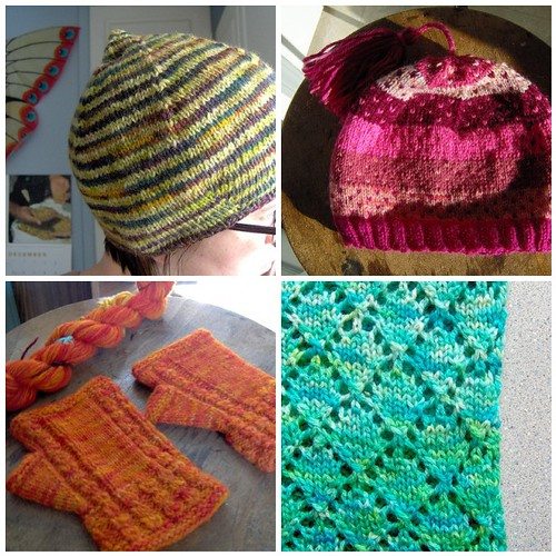 early kool aid dyeing in knits