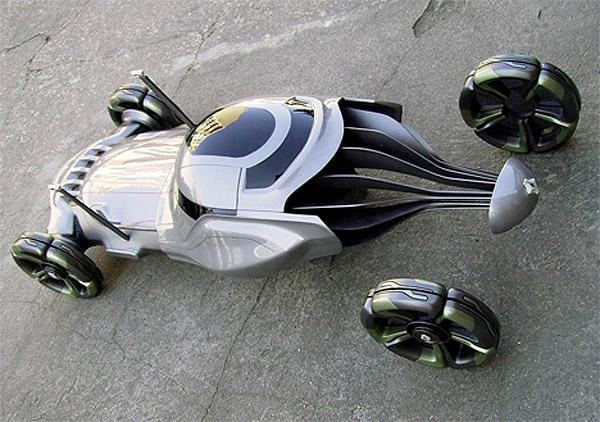 Modelo de coche sin eje trasero
