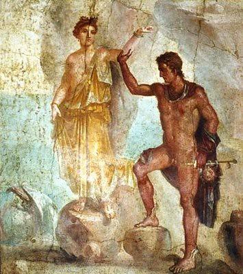 Perseo rescatando a Andrómeda- Pompeya por ti.