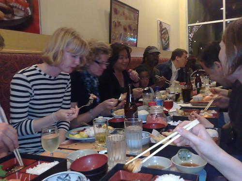 The InJo gang at Sushi Tomo in Palo Alto