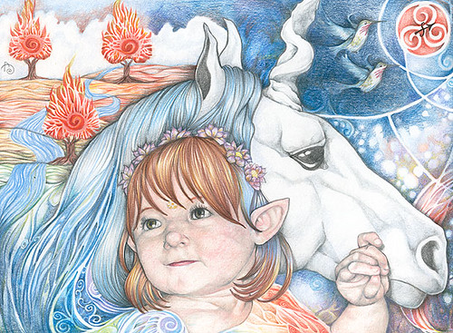 Portrait of Isobel and Unicorn