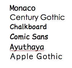 dyslexic friendly fonts