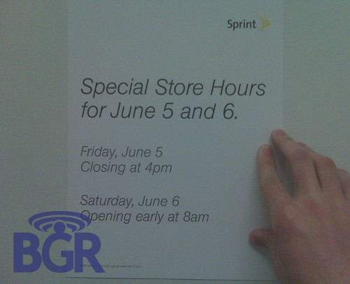 palm pre being sold early on june 5th at sprint stores