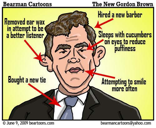 6 9 09 Bearman Cartoon New Gordon Brown