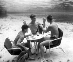Dick Woolery, Bud Boyett and Rudy Halabuck pla...