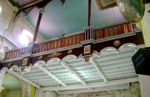 The choir loft inside the church
