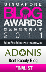 Singapore Blog Awards 2011 - Adonis Best Beauty Blog