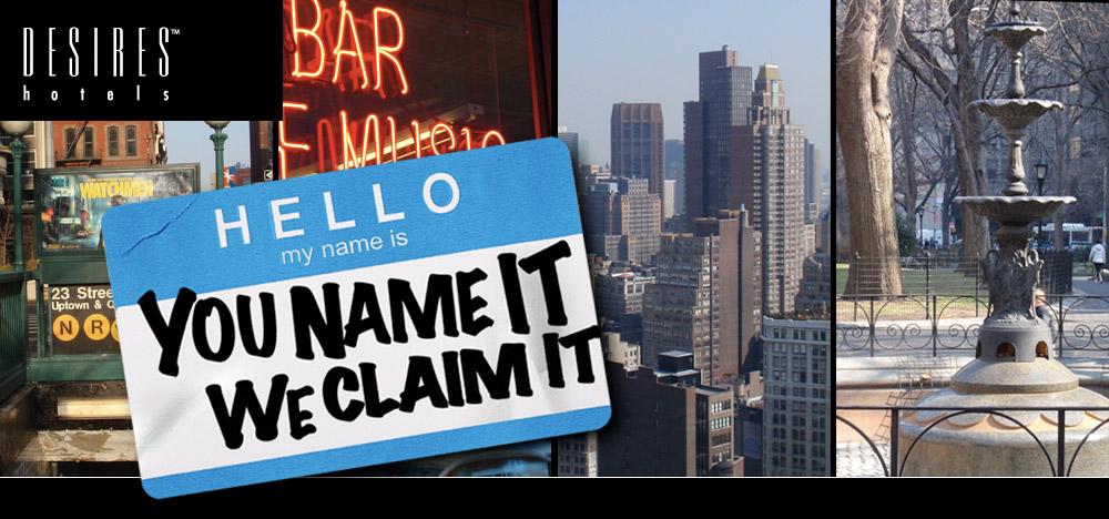 Hotel naming banner