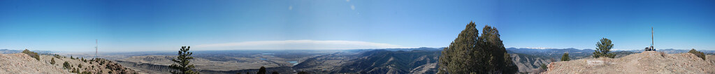 Panoramic of Mt. Morrison Summit