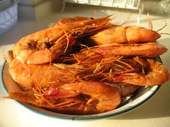 A plate of tasty dongbei prawns
