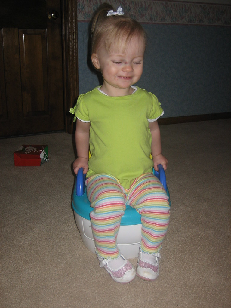 Playing on her Potty