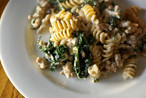 cheesy kale pasta