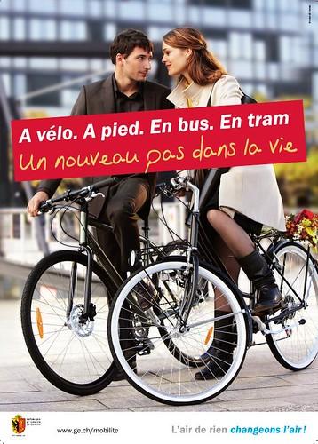 Campaña en Ginebra fomentar la Movilidad Sostenible.