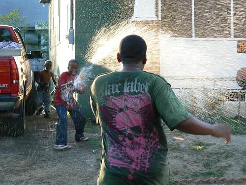 Hunter Street Water Fight - Determined Jacal Gets Khalif