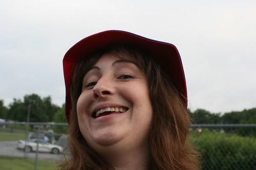 Me, in my floppy hat, being a dork.