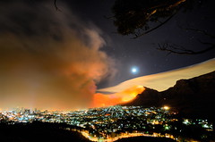 There is fire on the mountain