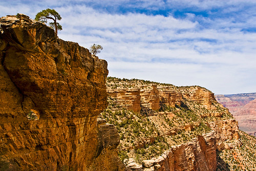 View from the fifth or sixth switchback of the Bright Angel trail.