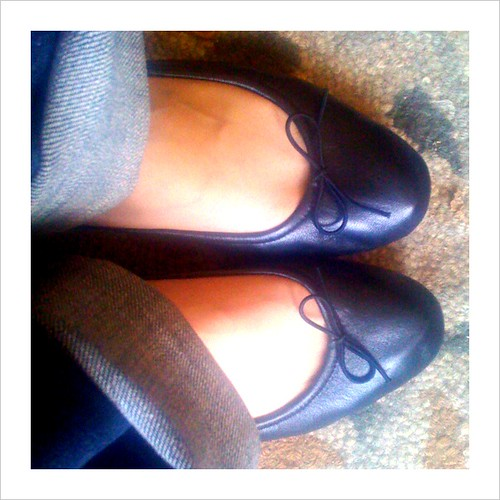 leather blochballetflats