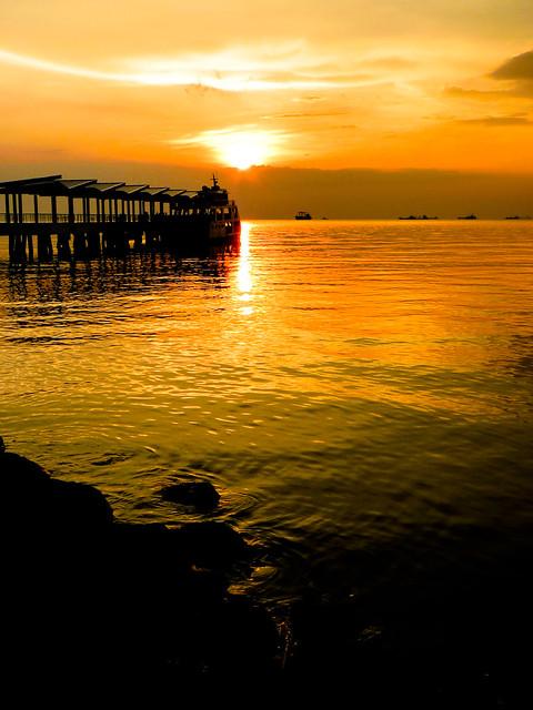 Jetty Terminal Sunset