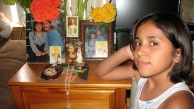Katherine Figueroa saw her father's immigration arrest on TV. (Photo: Valeria Fernández)