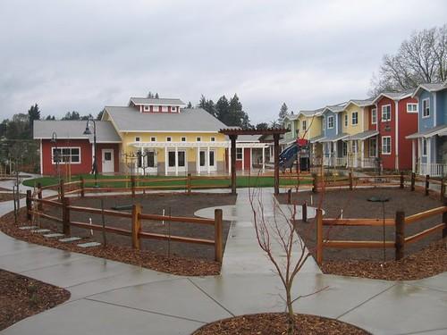 Community garden space, Petaluma Avenue Homes