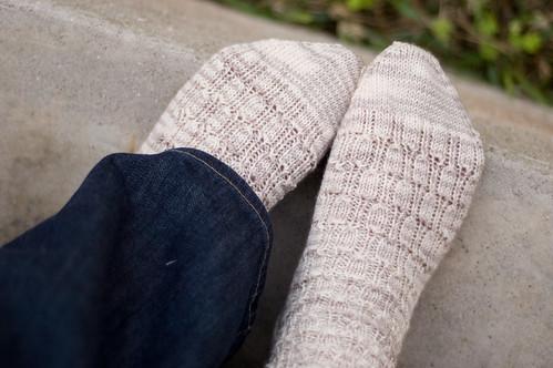 socks, top view (by bookgrl)