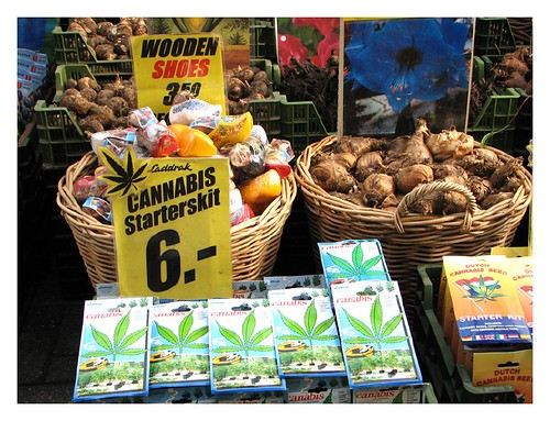 Canabis starter's kits for sale at the floating flower market by you.