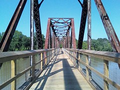 new section of the Palmetto Trail over the Broad River near Peak
