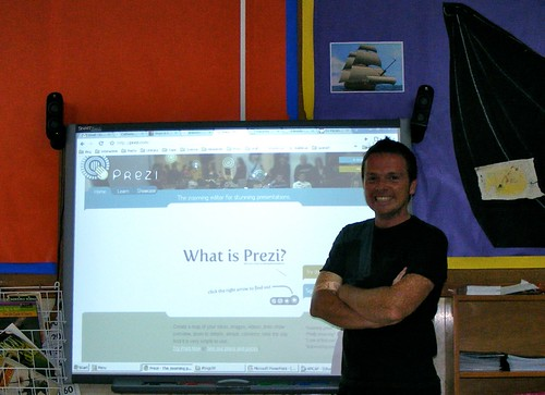 Presenting at teachmeet gran canaria