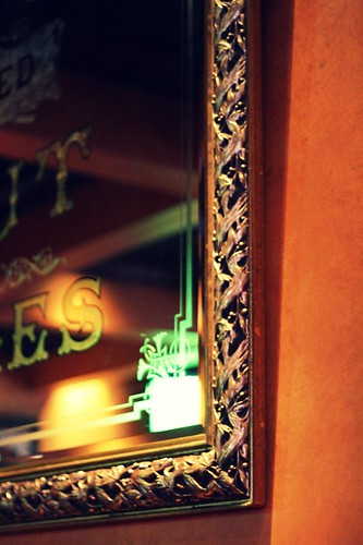 mirrored, gilded corner
