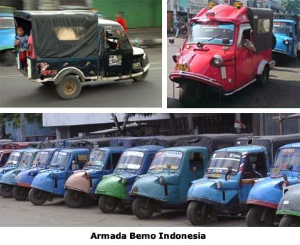 Bemo, Daihatsu Midget, Midget, Angkutan Umum, Becak Motor