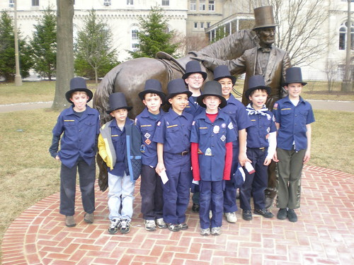 Pack 90 visits the Abe at the Cottage
