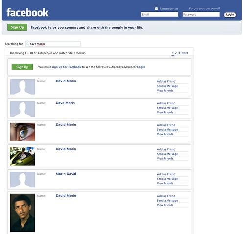 Search Names: dave morin | Facebook