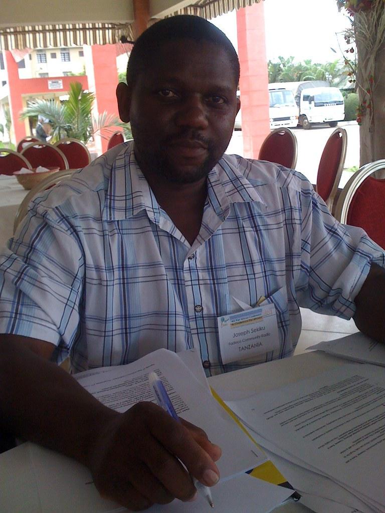 Joseph of FADECO Community Radio of Tanzania