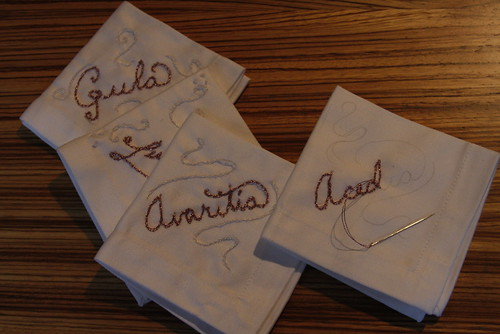 7 Deadly Sins Napkins in Progress