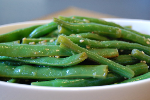 Orange Sesame Green Beans