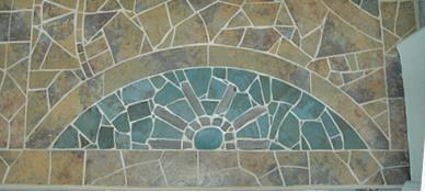 Mosaic Floor outside studio door