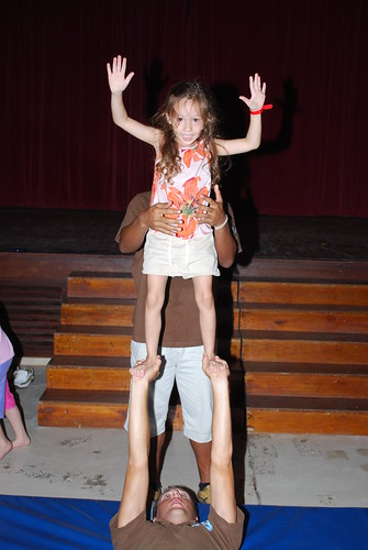 Grace Doing a Circus Trick - Club Med - Bintan