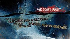 We do not faint