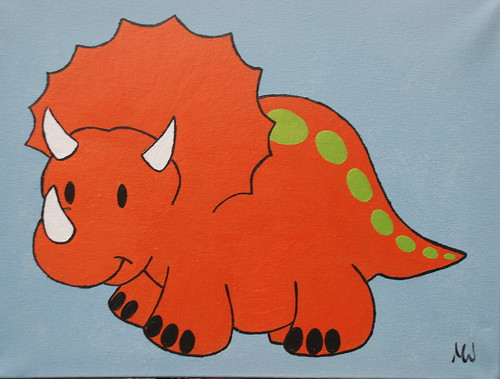 Triceratops by Red Ted Art.